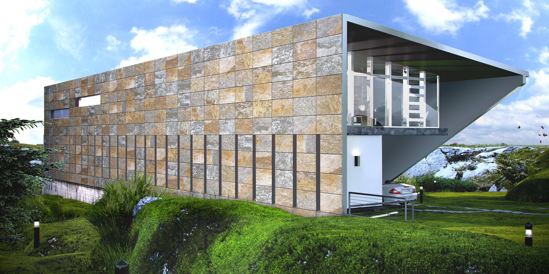 Exedra vive la naturaleza cultura dec for Fachadas ventiladas de piedra