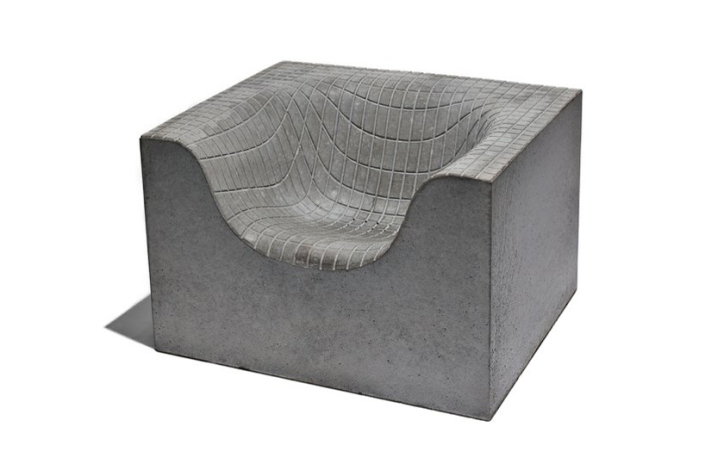 'concrete things chair' by komplot for nola