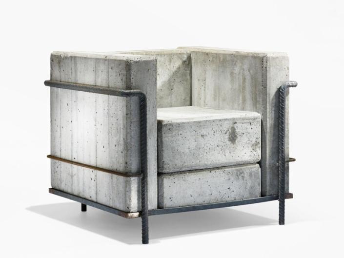 'concrete chair' by stefan zwicky