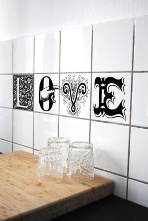 Vinilos que decoran tu hogar cultura dec - Tapar azulejos cocina ...