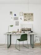 como decorar con una silla verde