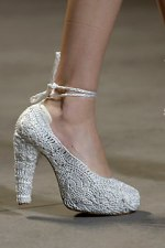 Christian Dior croché shoe