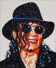 Michael Jackson. Mosaico con pastillas
