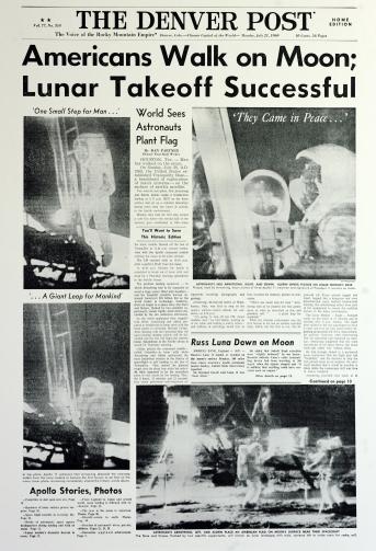 Americans Walk on Moon