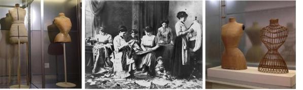 Maniquíes en las escuelas de moda y en talleres de confección