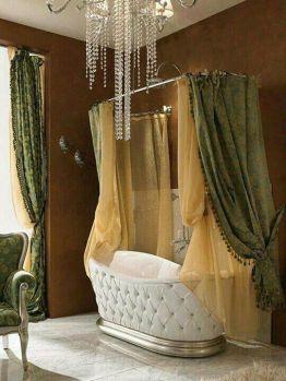 Bañera con estilo capitoné