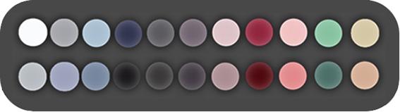 paleta de colores a