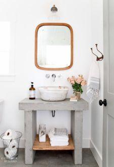 Soporte lavabo cemento
