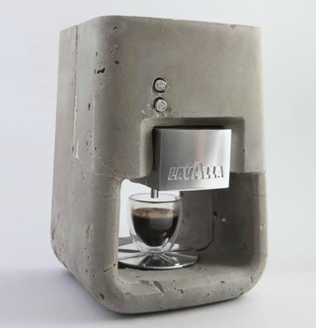Cafetera cemento