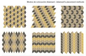 Propuestas de colocación de las piezas Adamant