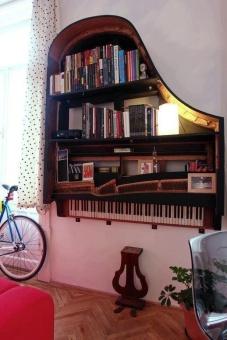Estantería-piano
