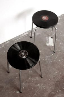 Taburete con discos