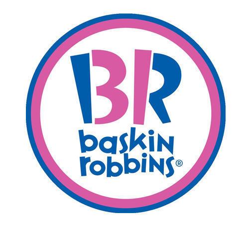 La cadena de helados Baskin Robbins ofrece una variedad de 31 sabores diferentes y el número 31 aparece en las iniciales en rosa 'B' y 'R'.