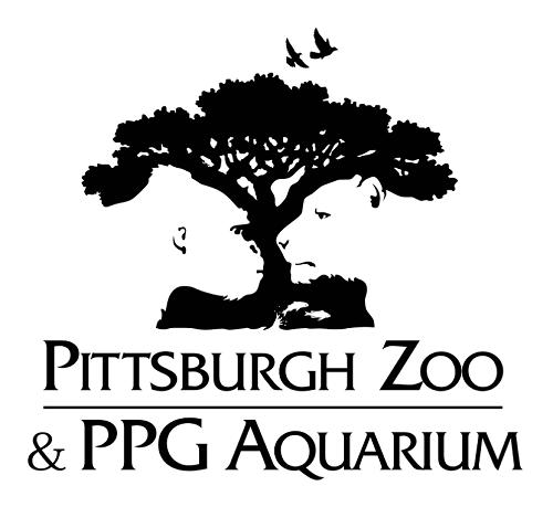 Es un curioso logo que no solamente enseña al gorila y al león mirándose, sino que estos animales han sido creados usando el espacio en blanco dejado por el árbol en negro, y así se tiene a los peces en la parte de abajo.
