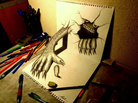 3d_drawing_monster_that_emerged_by_nagaihideyuki