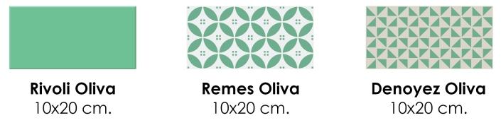 rivoli oliva 10x20