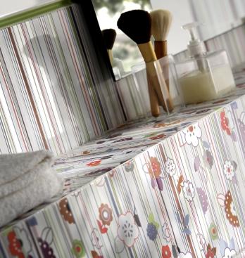 Serie Blanco Brillo 20x50cm detalle
