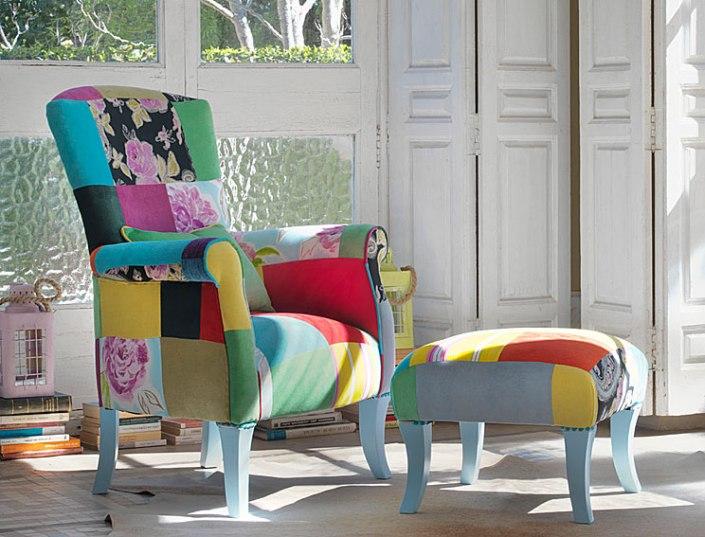 Muebles-Butaca-vintage-Patchwork-Genove