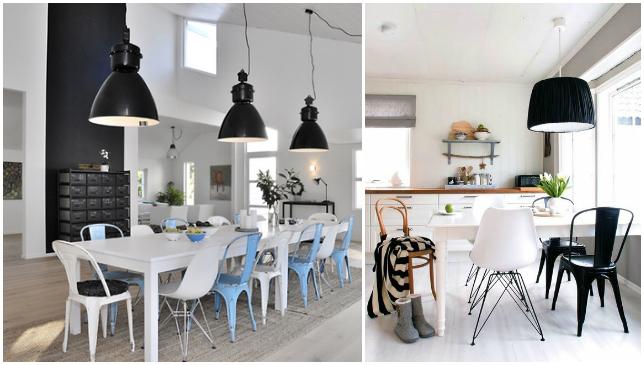 Sillas diferentes comedor n rdico escandinavo la for Comedor sillas diferentes