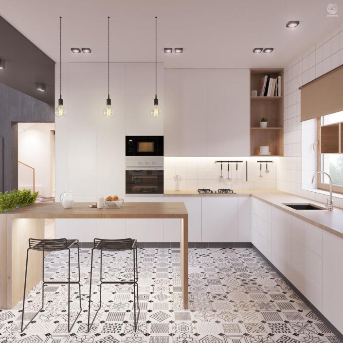 Cocinas con pavimento hidráulico