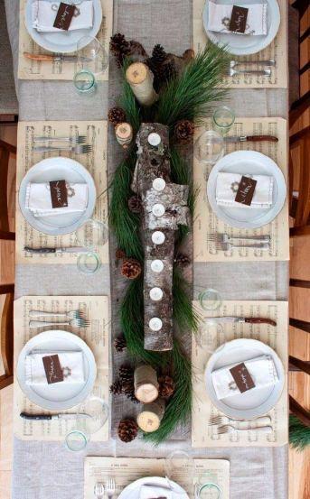 manteles-individuales-partituras-centro-de-mesa-tronco-con-velas-navidad
