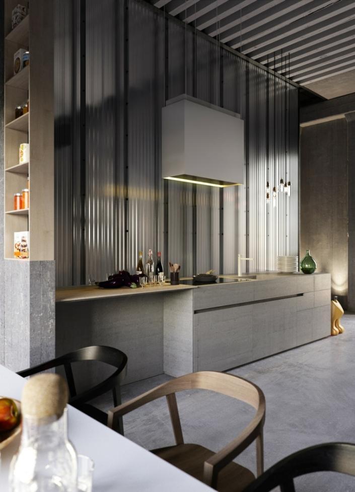 color-gris-cocinas-paredes-corrugadas
