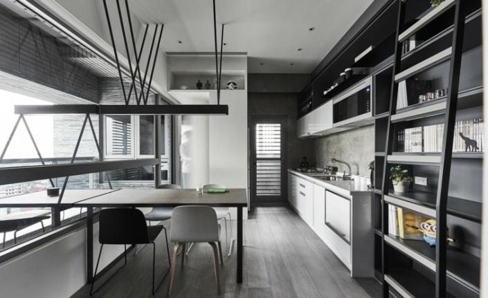 color-gris-cocinas-vista-librero