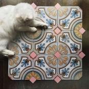Octógono Diglas Multicolor 20x20 cm