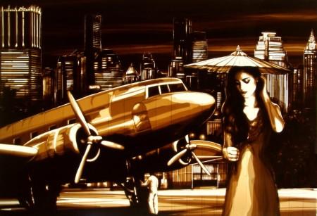Tape-art-by-Max-Zorn-Night-Flight-to-Bangkok