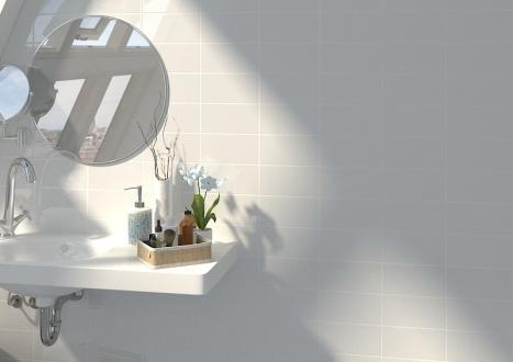 Rivoli Blanco Brillo 10x20cm con junta blanca