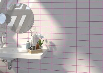 Rivoli Blanco Brillo 10x20cm con junta rosa