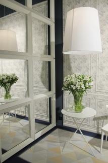 ambiente vives ceramica pared espejos boiserie