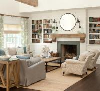 chic-cottage-living-room-shiplap-fireplace-wall-slate-tiles