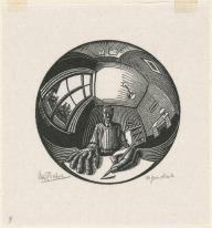 self portrait spherical mirror