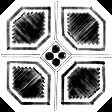 Octógono Variette Sombra 20x20cm