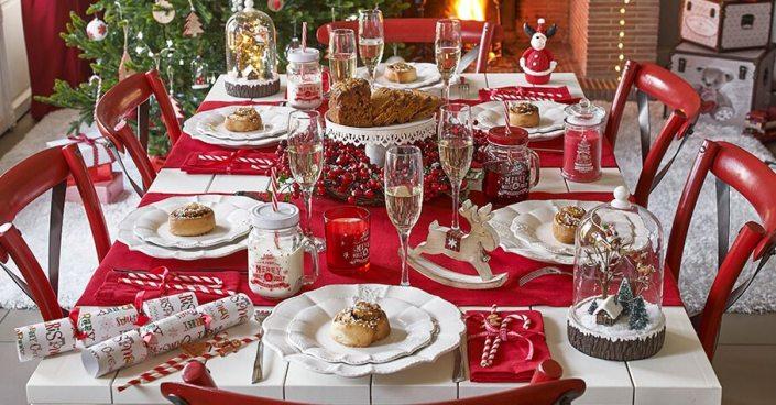 Mesas vestidas de navidad