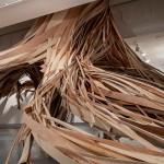Arte y listones de madera