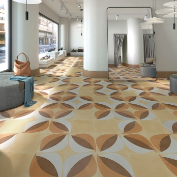 POP TILE · Sixties-R Ocre 29,3x29,3 - Afton-R
